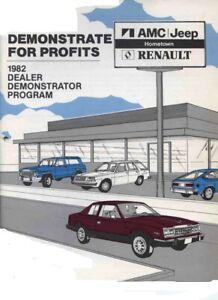 1982-AMC-JEEP-RENAULT-DEALER-DEMONSTRATOR-BROCHURE-EAGLE-CHEROKEE-CJ-LeCar