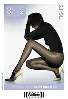 Wolford Satin Touch 20 Tights, 3 For Price Of 2 Pack, High Gloss Shine Pantyhose
