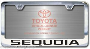 image is loading new toyota sequoia license plate frame with engraved