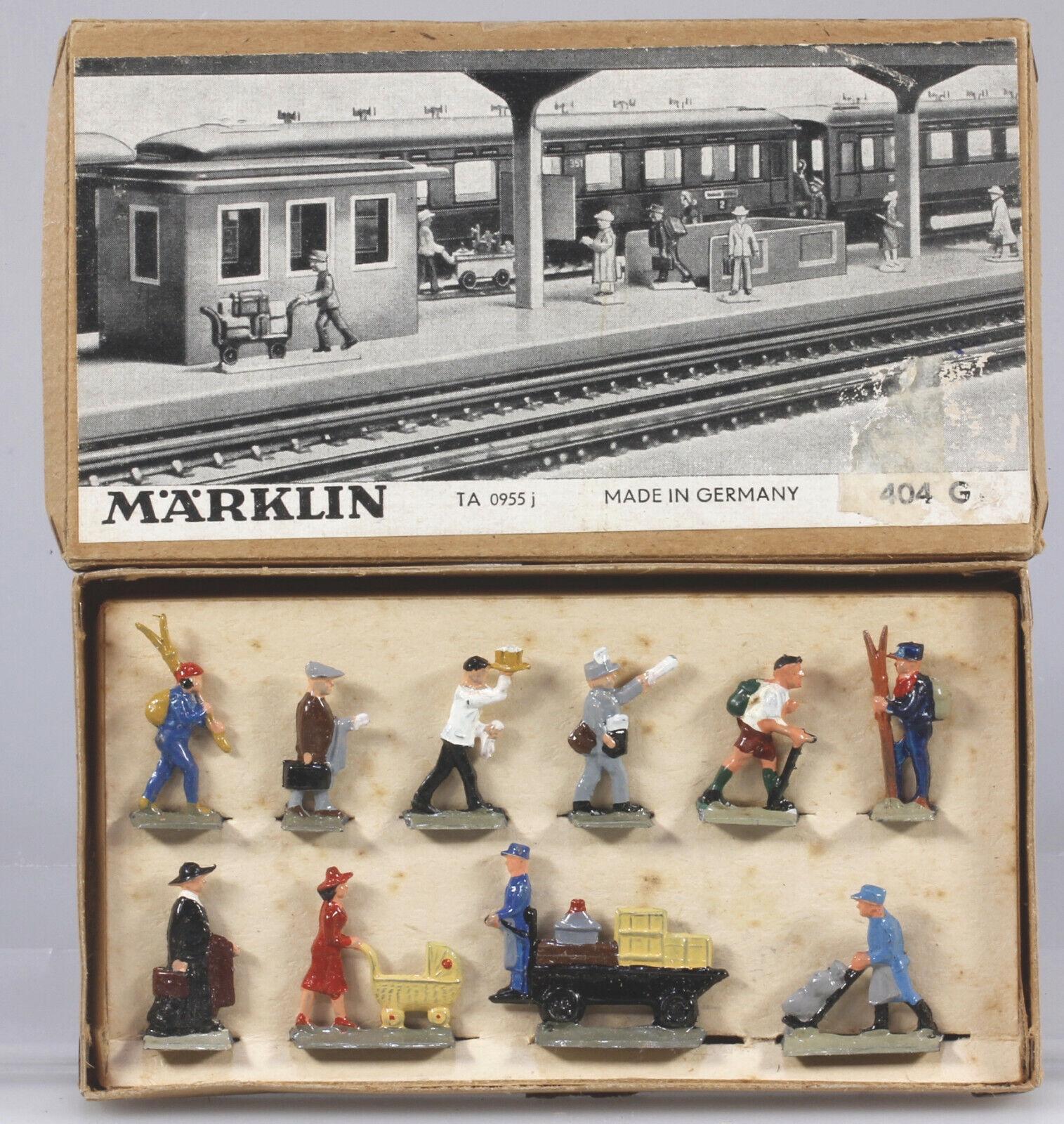 Märklin HO 404G ( 202) Railroad Figure Set EX BX 1949 to 1968