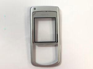 100-Original-Nokia-6681-A-Cover-Neu-Front-Oberschale-Silber-unbenutz