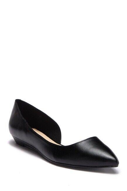prezzo più economico Nine West Nwspruce nero Leather Half d'Orsay Silhouette Pointed Pointed Pointed Slip On Flat 8M  fino al 42% di sconto