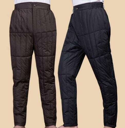 XL-5XL Men Cotton Down Thicken Winter Warm Pants L5 Snow Outdoor Casual Trousers