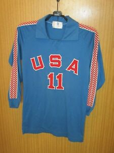 Maillot-porte-trikot-maglia-shirt-jersey-worn-USA-ETATS-UNIS-70-039-s-VOLLEYBALL