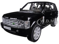 2003 LAND ROVER RANGE ROVER BLACK 1:24 DIECAST MODEL CAR BY WELLY 22415