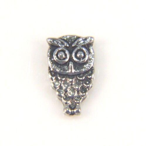 Floating Charms Mini Charm Living Memory Locket Pendant Antique Silver Owl 8mm
