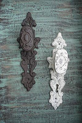 Rustic Cast Iron Door Handle Knob - Home Decor - Cast Iron or Distressed White