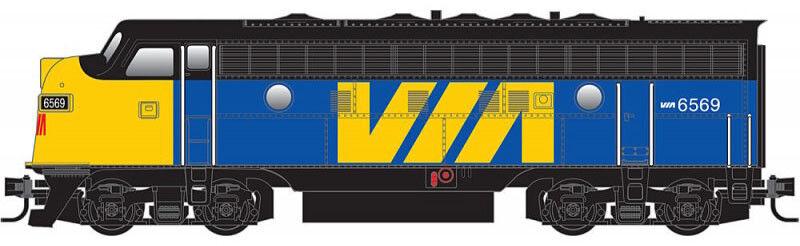 Micro-Trains MTL Z-Scale F7-A Diesel Passenger Locomotive VIA Rail Canada  6569