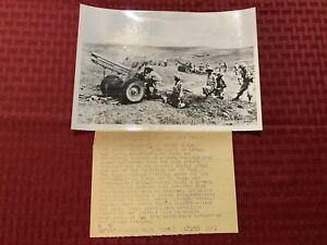 "Original United Press News Photo ""Egypt -Israel In Border Clash"" 1955"