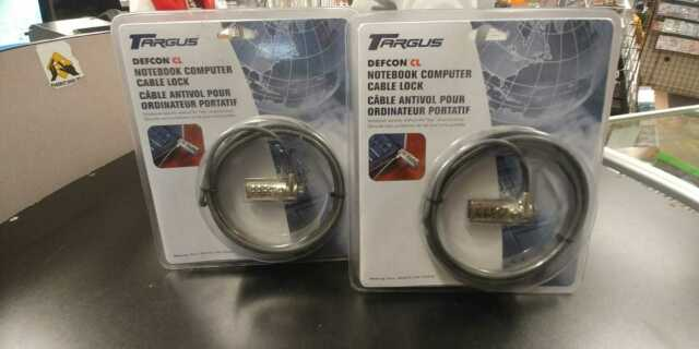 NEW SEALED Targus Defcon CL Laptop Computer Security Cable Lock Combination 6.5'