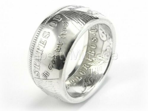 MORGAN Silver Dollar Coin Ring Tails Sizes 7-14 Polished