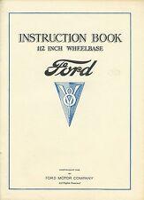 Instruction Book 112 Inch Wheelbase - Ford - V8