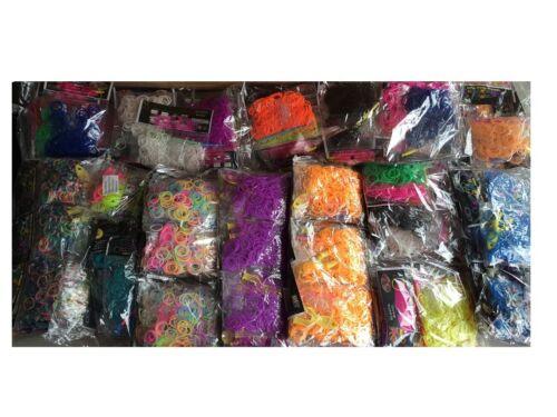 Loom Bands Gummibänder ca 60.000 Stk Angebot in verschiedenen Farben NEU!!