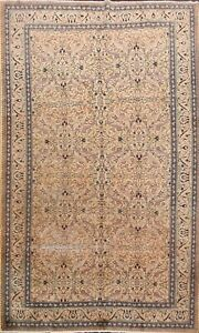 Antique-Floral-Peach-6-039-x9-039-Anatolian-Oushak-Turkish-Vegetable-Dye-Area-Rug-Wool