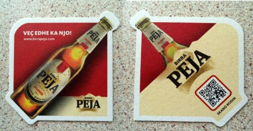 Coaster or mat of Peja Beer Albania from Kosovo Birra