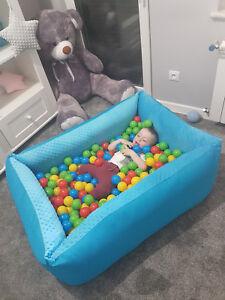 Spielzeug Motorik Bällebad Ballpool Kugelbad Kinder Bällchenpool 300 Bällen Minky FARBEN NEU