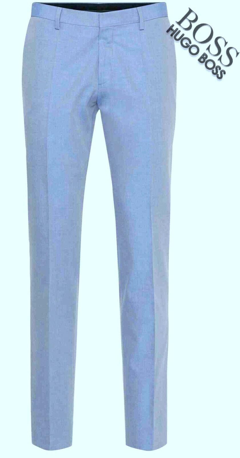187ae6d7 HUGO BOSS GENESIS2 LIGHT blueE VISCOSE VISCOSE VISCOSE FLAT CASUAL OR DRESS  PANTS US 38 MINT 2d959f