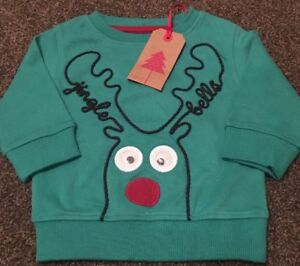NEXT-Baby-Boys-Funny-Rudolph-Christmas-Reindeer-Xmas-Jumper-3-6-Months-New