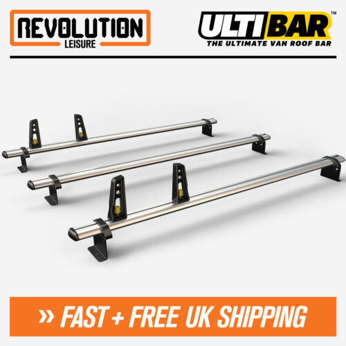 Ford Transit Roof Rack Ladder Bars 3 x Van Guard ULTI Bar H3 High Roof 2014+