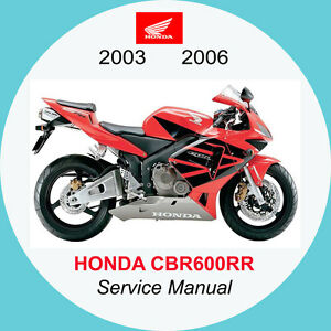 honda cbr600rr 2003 2006 full service manual a1 ebay rh ebay co uk 2006 honda cbr 600 service manual 2006 honda cbr 600 service manual pdf