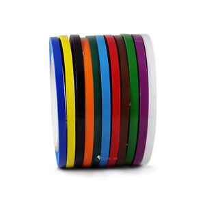db7bfb3d4af Vinyl Pinstriping Tape - 12 OSHA COLORS AVAILABLE  1 4 INCH (6mm) x ...