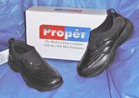 Mens Propet, Black Leather, Slip-on Walking Shoe, 12 M ( D )