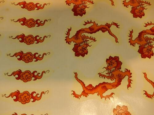 Konvolut 200 Schiebebilder Abziehbilder Roter Ming Drache Dekorieren Einbrennen