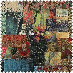 Modern Printed Velvet Wonderland Patchwork Multi Coloured