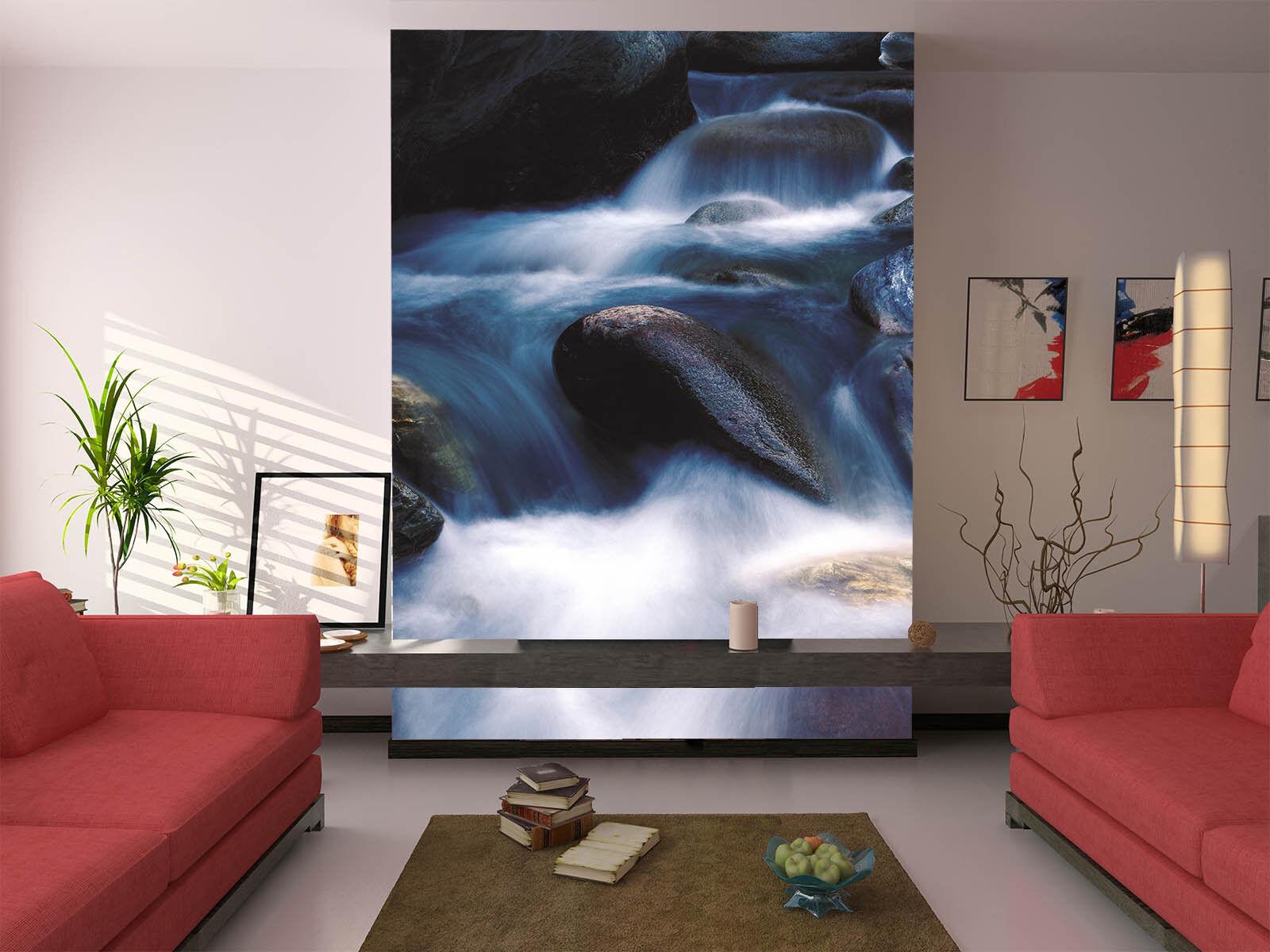 3D Felsen  Fluss 77 Tapete Wandgemälde Tapete Tapeten Bild Familie DE Summer