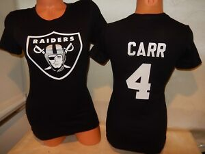 hot sale online 3b398 8b718 Details about 9715 Womens Ladies Oakland Raiders DEREK CARR