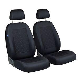 Schwarze Sitzbezüge für SKODA FABIA  Autositzbezug VORNE