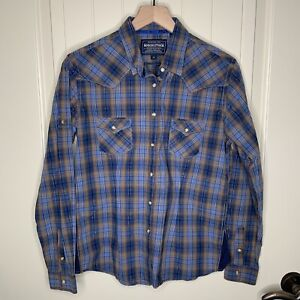 Womens-Panhandle-Slim-Roughstock-Western-Shirt-Rodeo-Button-Down-Long-Sleeve-M