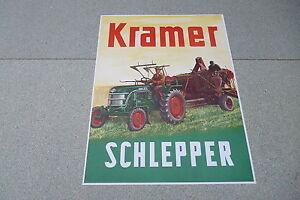 Dynamique Kramer Remorqueur Ancien Publicitaire Affiche Rare-afficher Le Titre D'origine