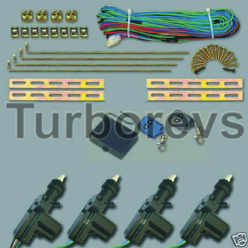 REMOTE CENTRAL DOOR LOCKING KIT AUDI 80 90 A4 A3 100