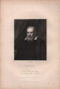 1834 Georgianisch Porträt Aufdruck ~ Galileo