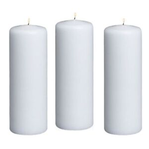 6pc-White-Pillar-Unscented-Candles-2-x-6-034-Home-Decor-Wedding-Table-Decorations