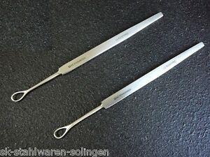2-STUCK-MEDIZINISCHER-OHRENREINIGER-EDELSTAHL-SK-STAHLWAREN-SOLINGEN-Q-Tips-14cm