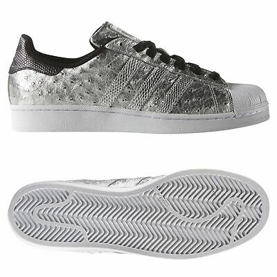 Adidas Originaux HOMME Superstar Baskets Argent Chaussures Rare Peau de Serpent | eBay