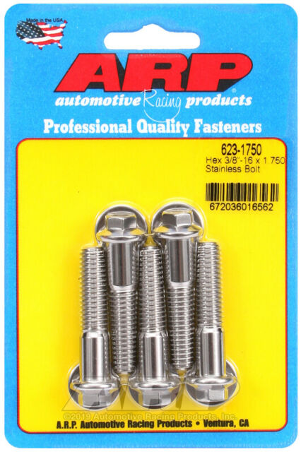 Arp 615-2500 3//8-16 x 2.500 12pt 7//16 wrenching SS bolts