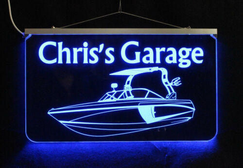 Bar sign Garage Sign Camping Sign Personalized Boat Sign LED Man Cave Sign