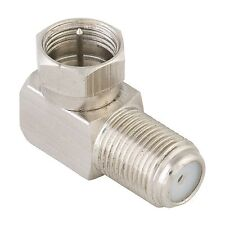 Antsig RIGHT ANGLE F-CONNECTOR ADAPTOR 2Pcs 75 Ohm, Male To Female *Aust Brand