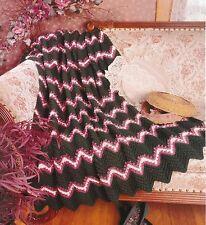 PRETTY Rocky Road & Aqua Ripple Afghans/Crochet Pattern INSTRUCTIONS ONLY