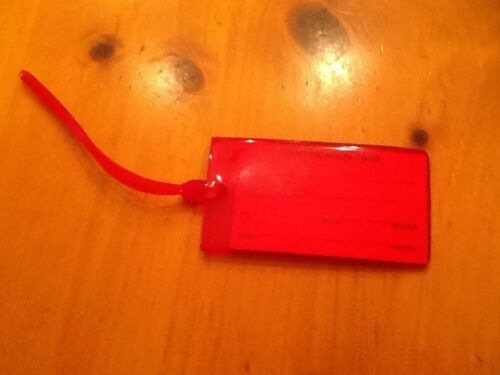 DELTA NEW LUGGAGE BAG TAG // ID JELLY TYPE RED