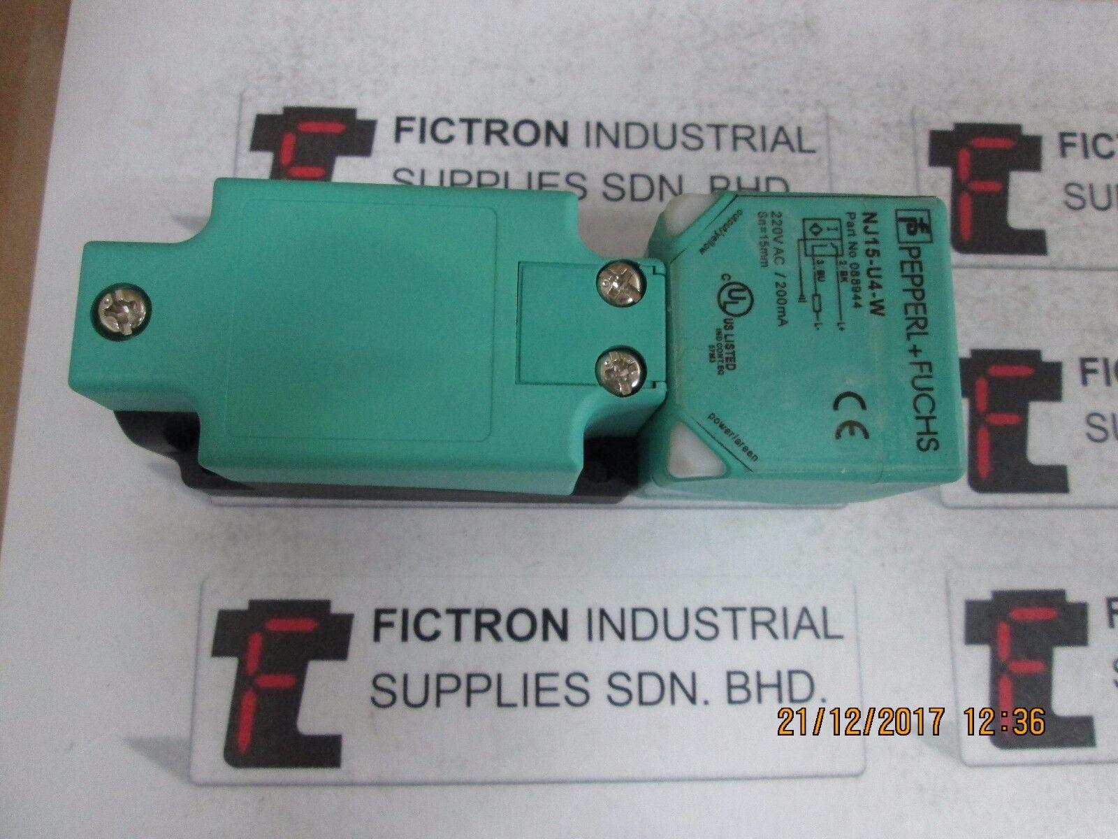 Pepperl Fuchs Nj15 U4 W Inductive Proximity Sensor   eBay