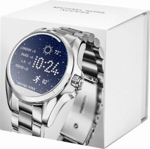 Image is loading Michael-Kors-Access-Unisex-Bradshaw-Silver-Stainless-Steel- 41405158eb
