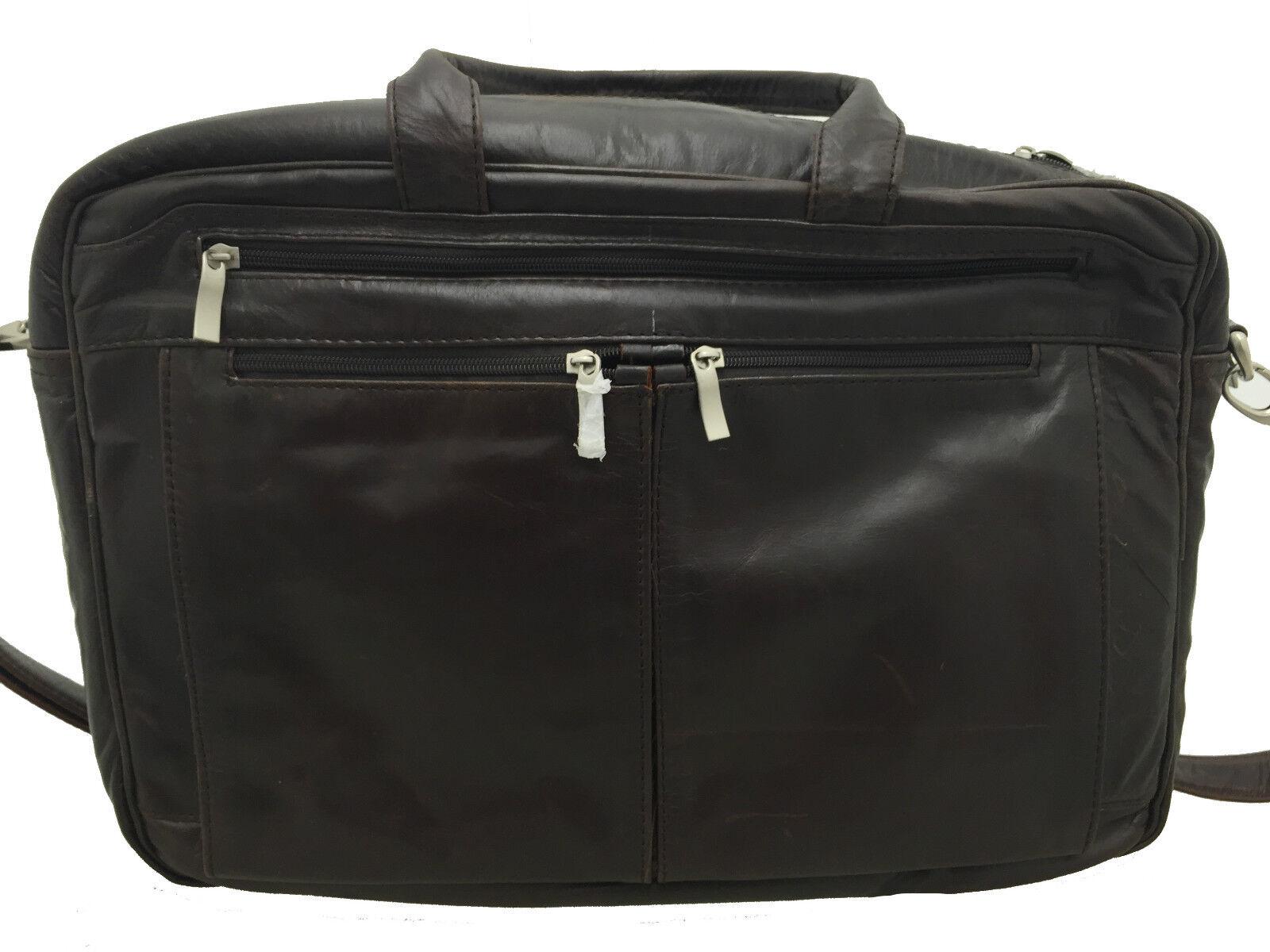 NEU Herren groß braun Aktentasche 100% 100% 100% Echtleder Vintage Retro & verstellbar   Trendy  84d47d