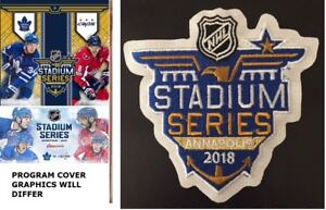 a9267a546 2018 STADIUM SERIES GAME PROGRAM   JERSEY PATCH TORONTO MAPLE LEAFS ...
