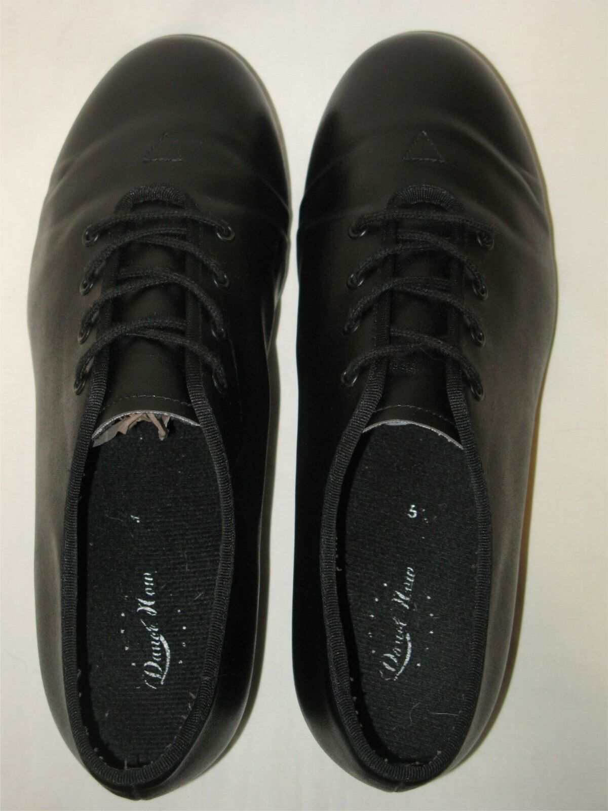 Tap Dance Shoes Oxfords Children's Sz 5.5 M Black With Bloch Metal Hardware