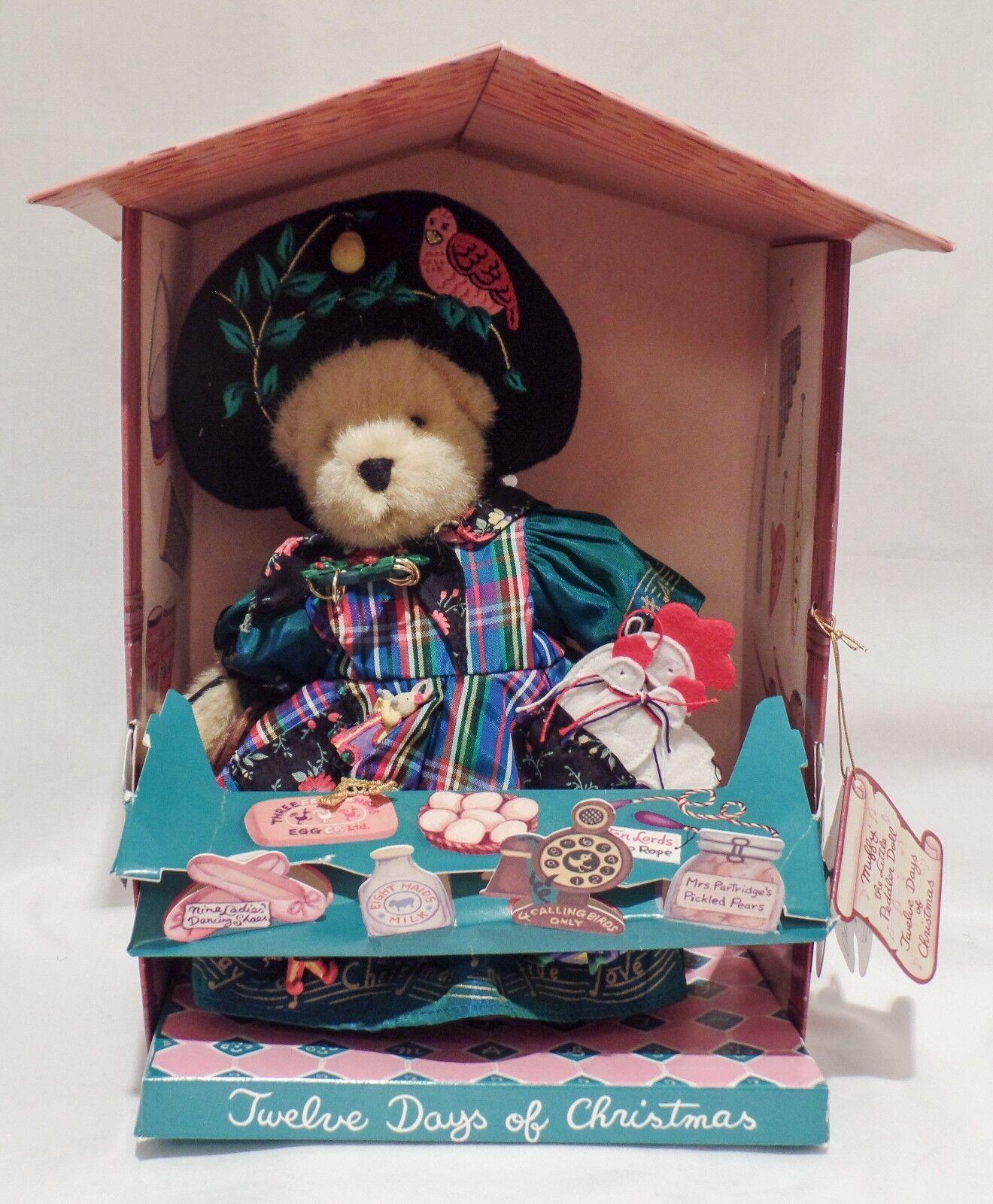 Muffy VanderBear  12 Days of Christmas  Little Peddler 1997 - NIB - Signed  3982