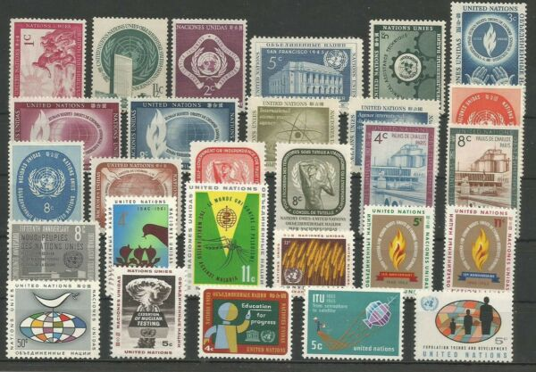 Actif S43) United Nations-4 Stamps Lot**/* (mnh/mh)